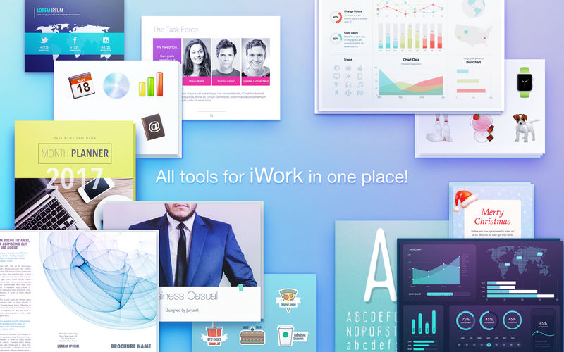 Elements for iWork 3.1.2-超级丰富的iWork素材包