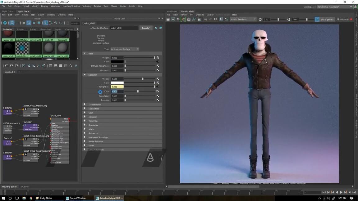 >Autodesk Maya 2020.4 WIN MAC – 游戏产业应用最广的CG动画软体