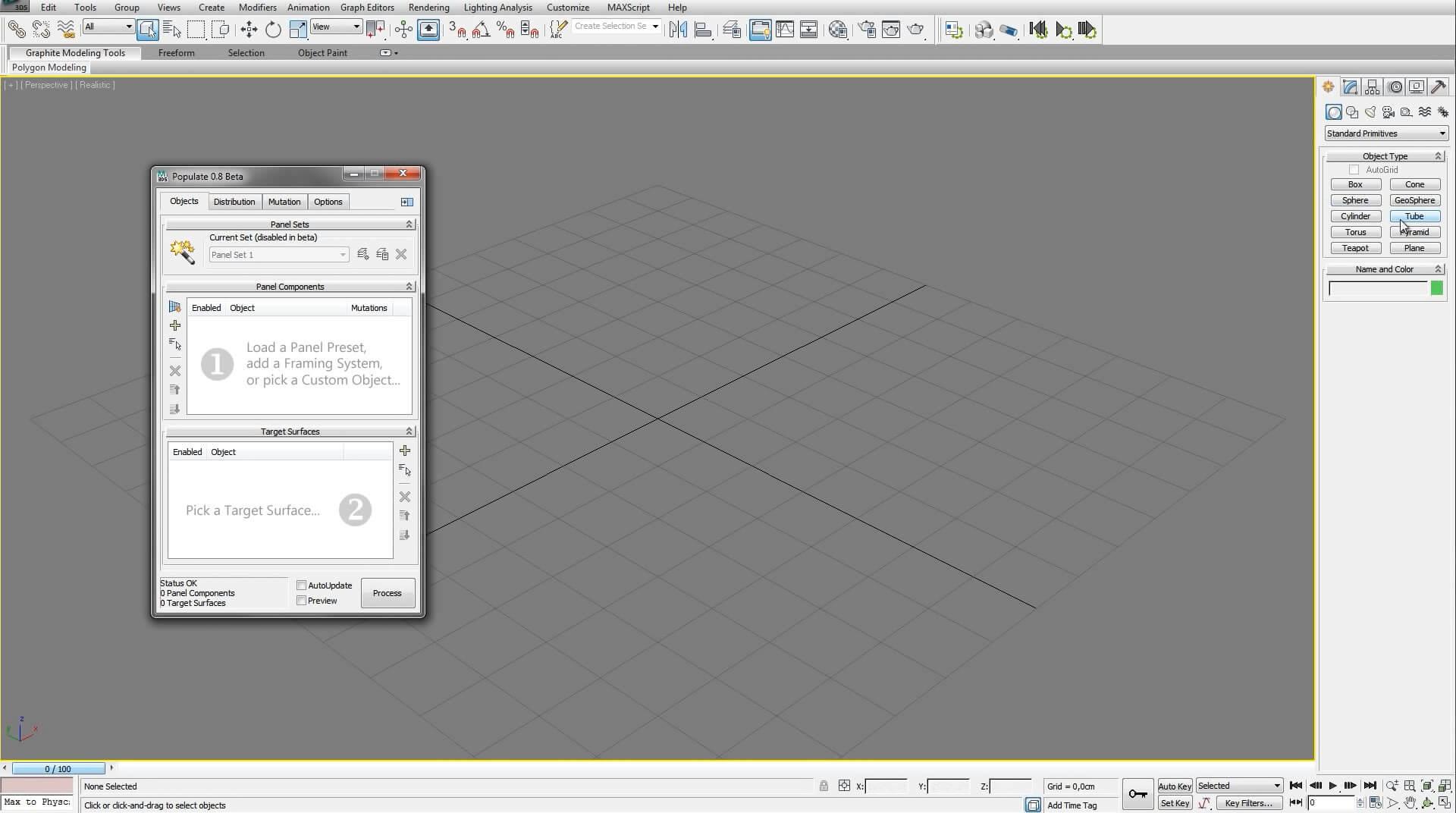 >Populate Terrain V1.86 & Panel V0.88 – 3DS MAX 2010-2019 下创建优化表面地形轮廓插件