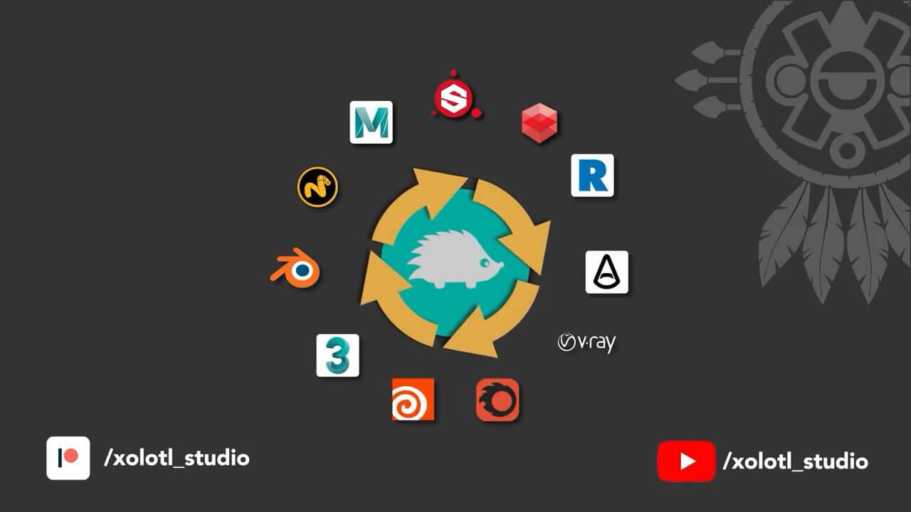 >FULL Substance Painter Live Link V1.0.0.4 – 多DCC之间Live Link完整版 ( Marmoset, Cinema 4D, 3DS Max, Maya, Modo, Blender, Houdini)