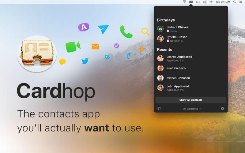 >Cardhop V1.1.5 – 功能强大的通讯录管理工具