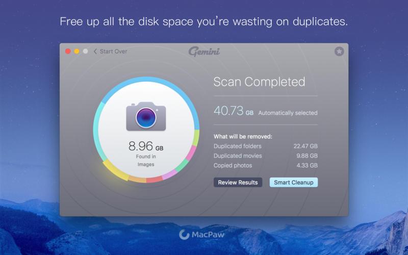 Gemini 2.8.5 – Mac上删除系统内部重复文件的检索软件
