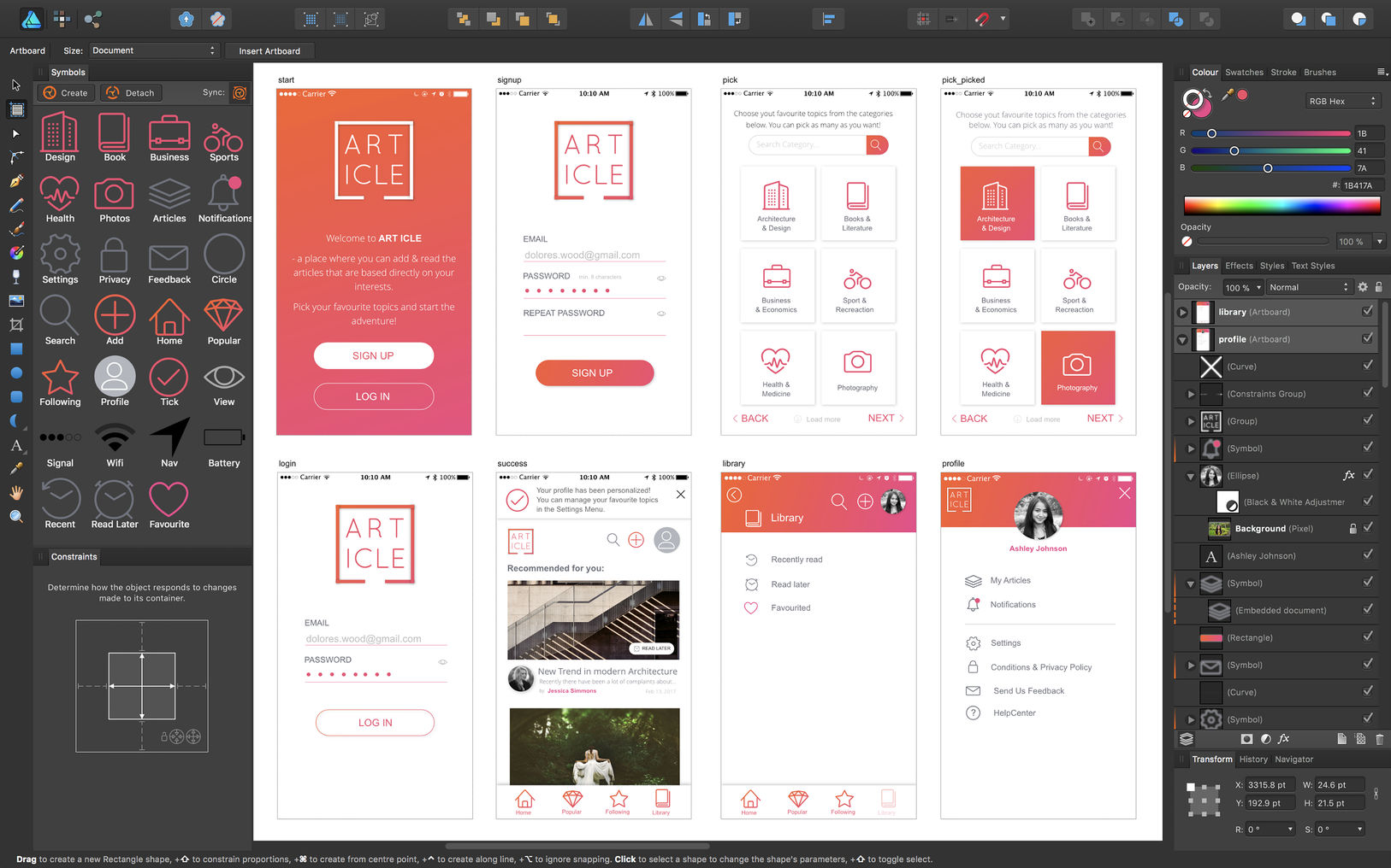Affinity Designer for WIN & Mac 1.7.0.5 – 优秀的UI设计绘图工具破解版下载