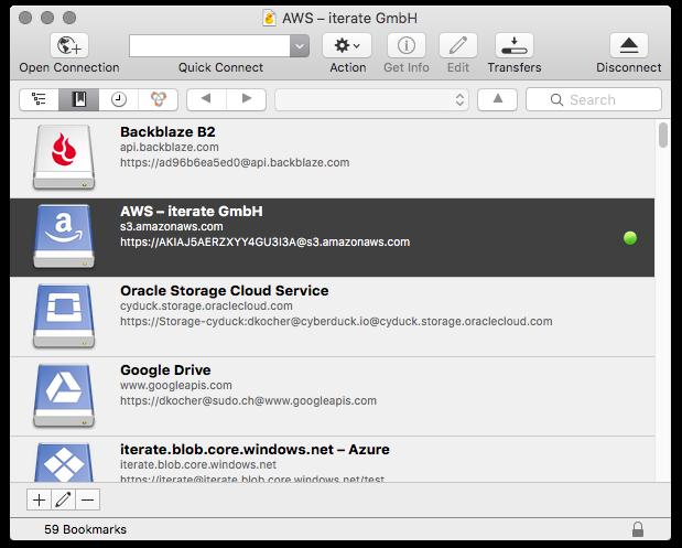 >Cyberduck 6.8.2 – Mac 上简单的 FTP 和 SFTP 工具