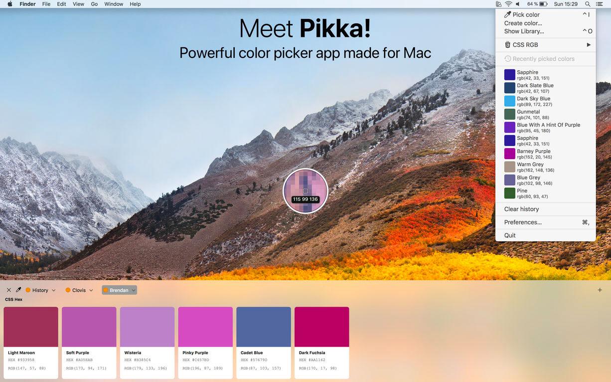 Pikka2.0 – 设计师必备超级设计配色吸色工具