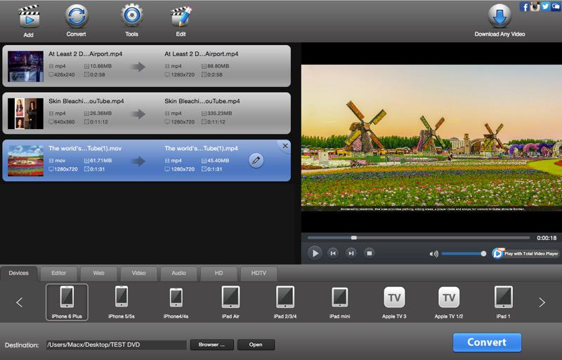 Total Video Converter Pro 4.4.1 - Mac全功能视频格式转换器