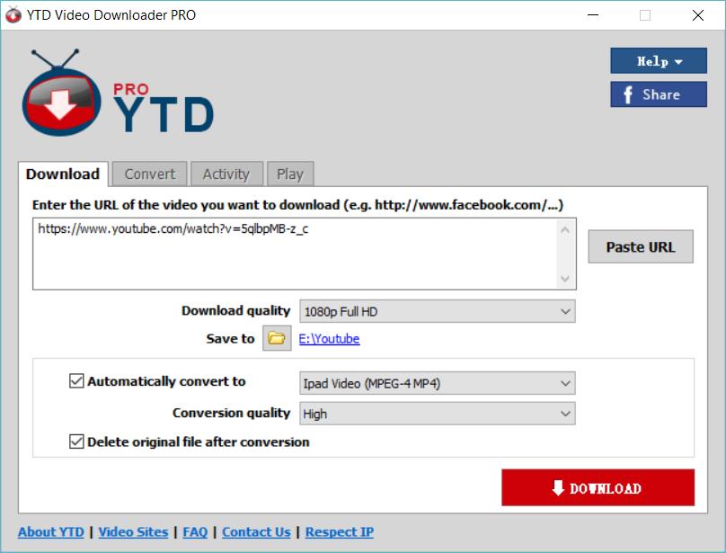 >Youtube视频下载利器破解版YTD Video Downloader