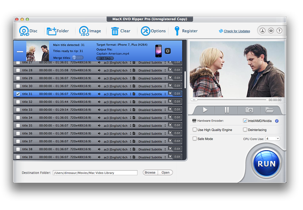 MacX DVD Ripper Pro 6.2.1 - 非常专业的DVD格式转换工具