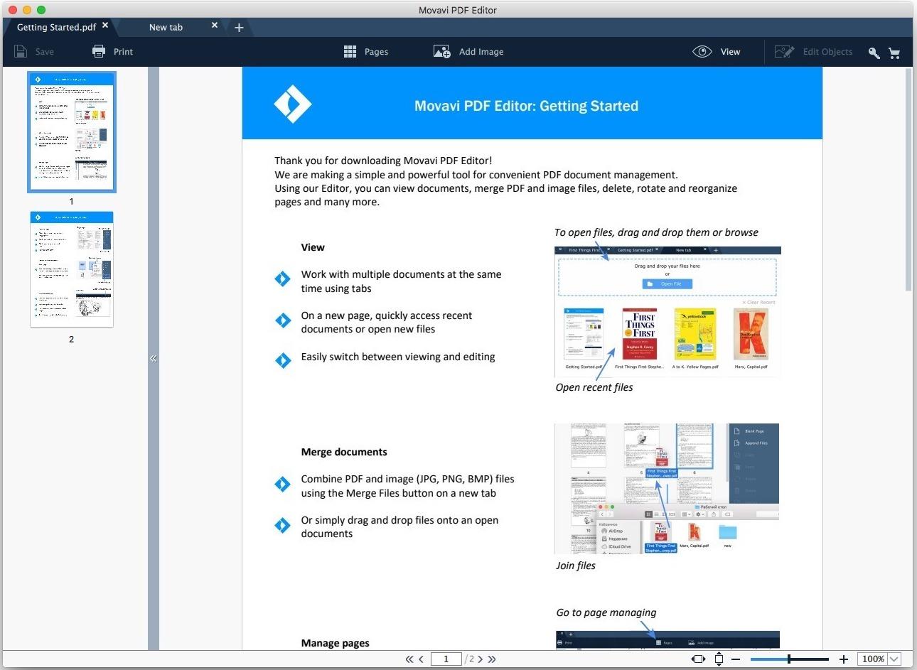 Movavi PDF Editor 1.7.1 – 快捷简易的 PDF 浏览和编辑工具