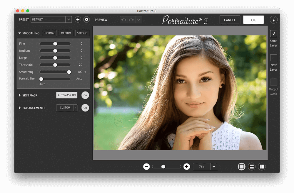 Imagenomic Portraiture 3.5.1 Build 3517 - 经典而专业的PHOTOSHOP磨皮工具[For Photoshop 和 Lightroom]