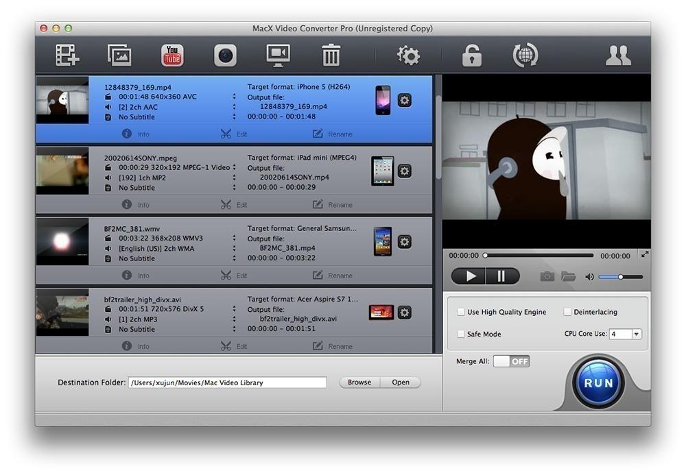 MacX Video Converter Pro 6.4.3 for Mac - 中文破解版下载(MAC最佳的视频转换工具)