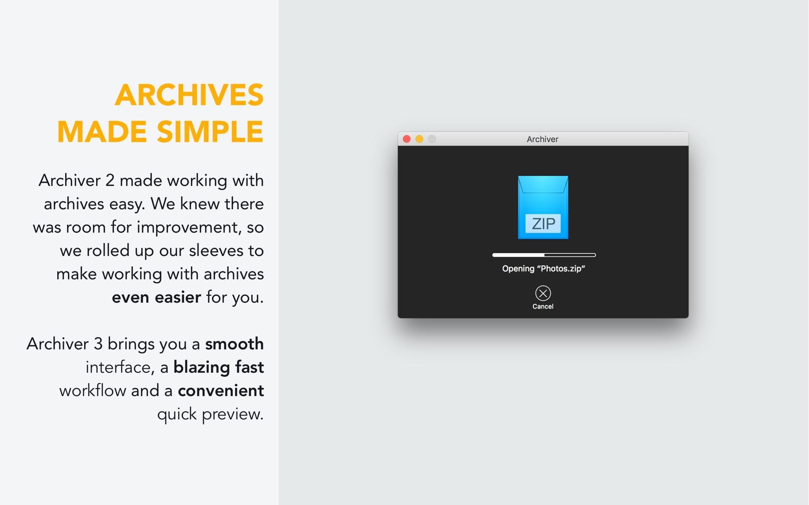 Archiver 3.0.6 一功能最强大最好用的Mac的解压与解压缩工具