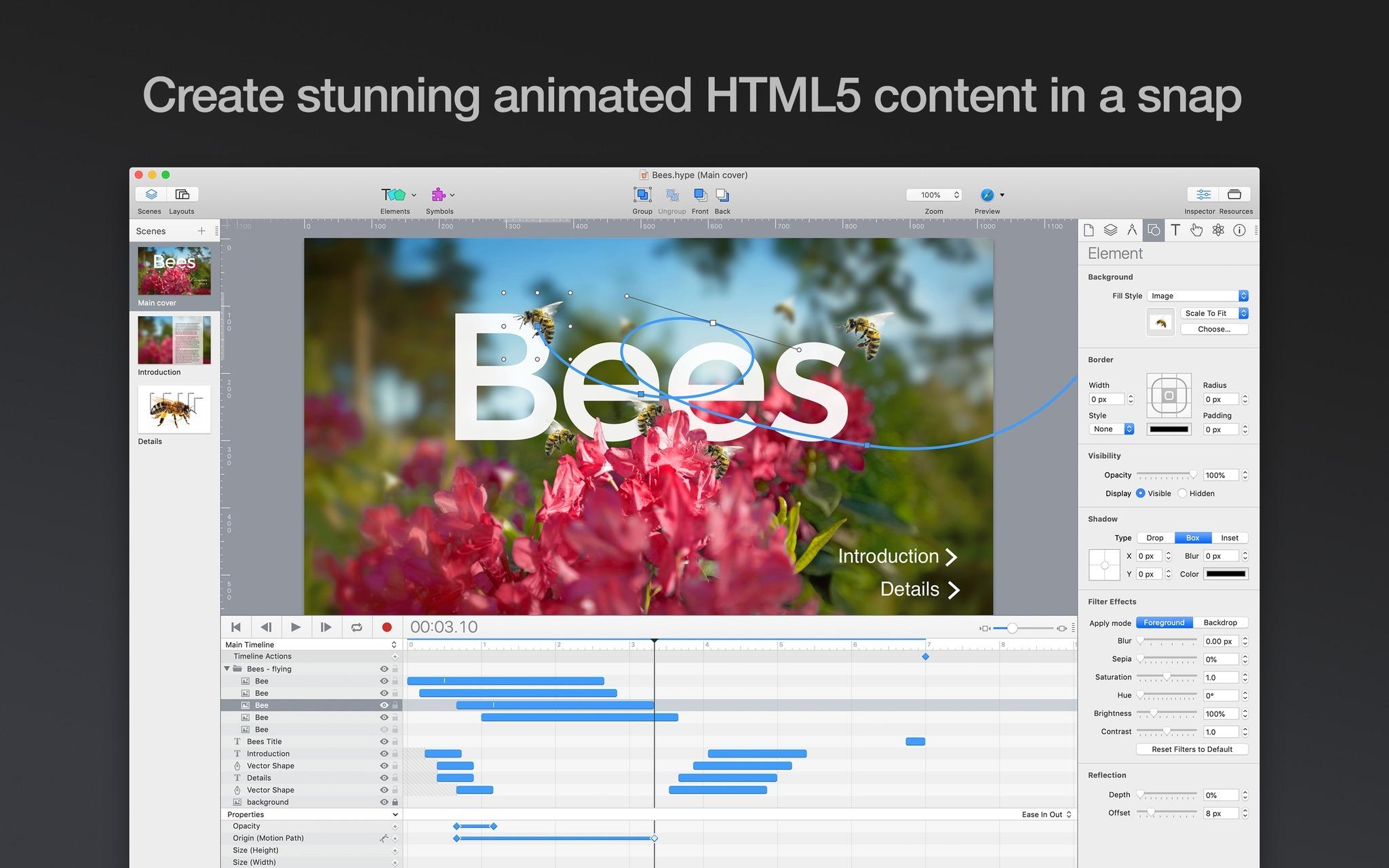 Hype Pro 4.0.1 - 一流的HTML动画和交互开发工具