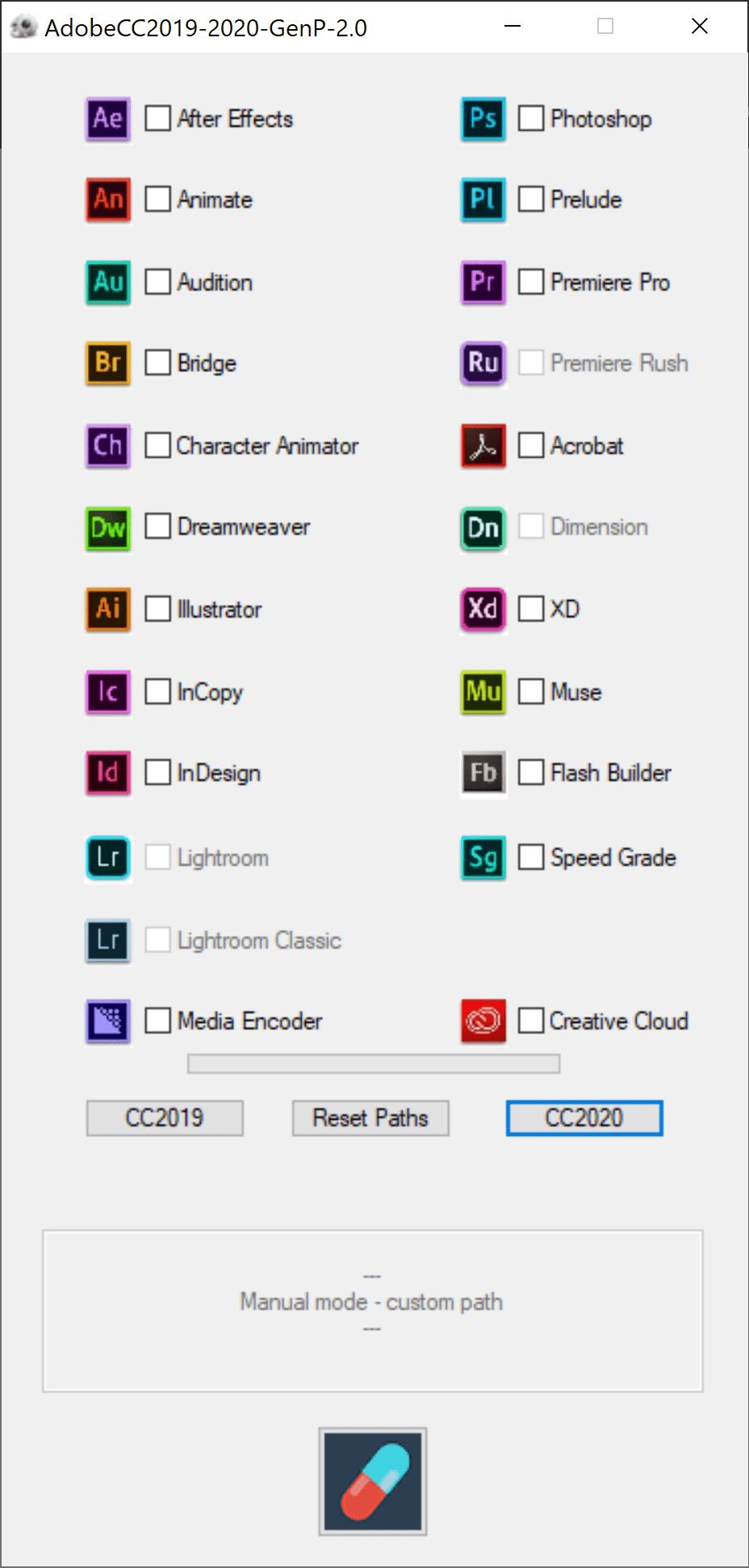 >Adobe CC 2020 GenP V2.4 – Windows通用破解补丁完整版