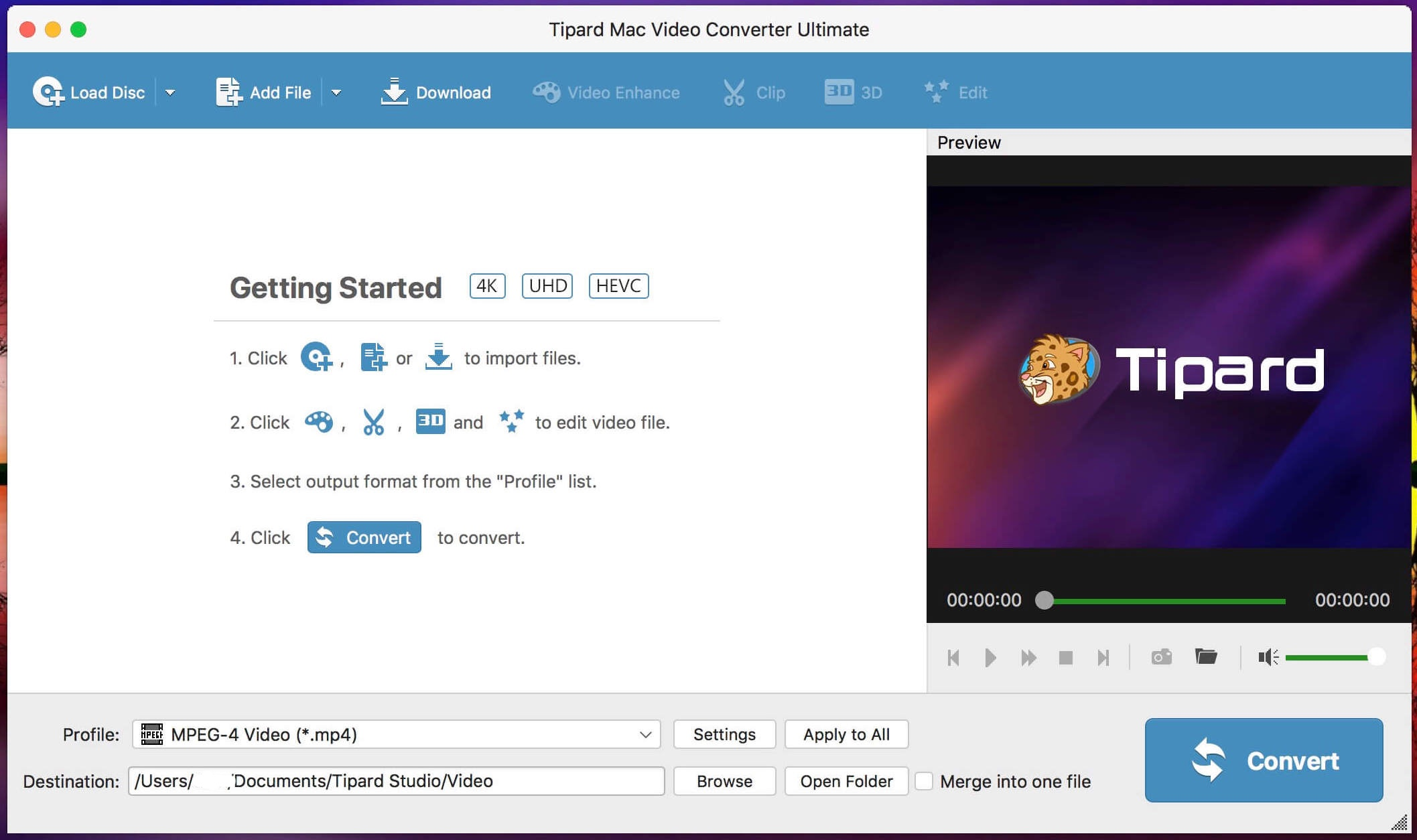 Tipard Mac Video Converter Ultimate 9.2.26 - Mac上的超强格式转换工具